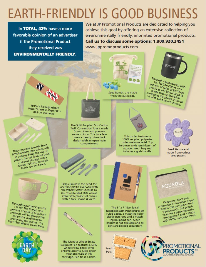 Earth Friendly Promotional products
