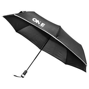 47 Arc Totes Auto Open Auto Close Elements Large Canopy Brown Plaid Umbrella