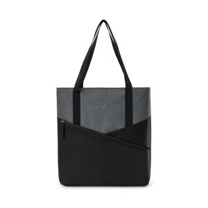 Daily Commuter Computer Tote - Black-Charcoal Heather