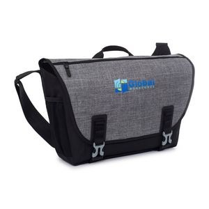 Nova Computer Messenger Bag - Black-Charcoal Heather