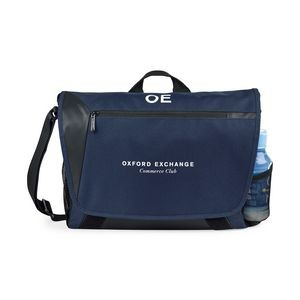 Sawyer Computer Messenger Bag - Navy Blue