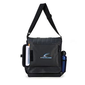 Impact Vertical Computer Messenger Bag - Dark Grey