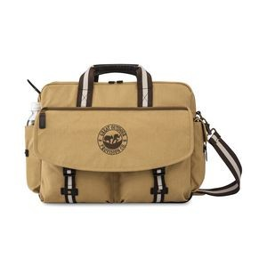 Heritage Supply Ridge Cotton Computer Messenger Bag - Dune