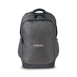 Heritage Supply Tanner Deluxe Computer Backpack - Charcoal Heather