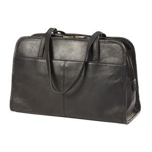 Three Section Leather Business Tote Bag